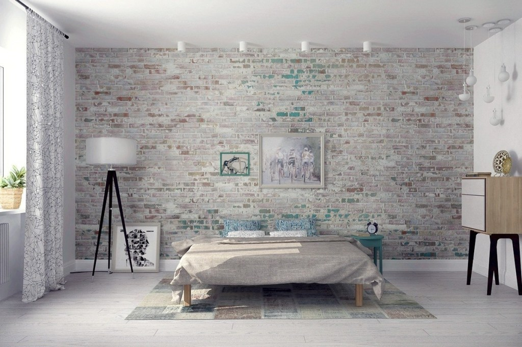 Brick Wall for Scandinavian Interior Style