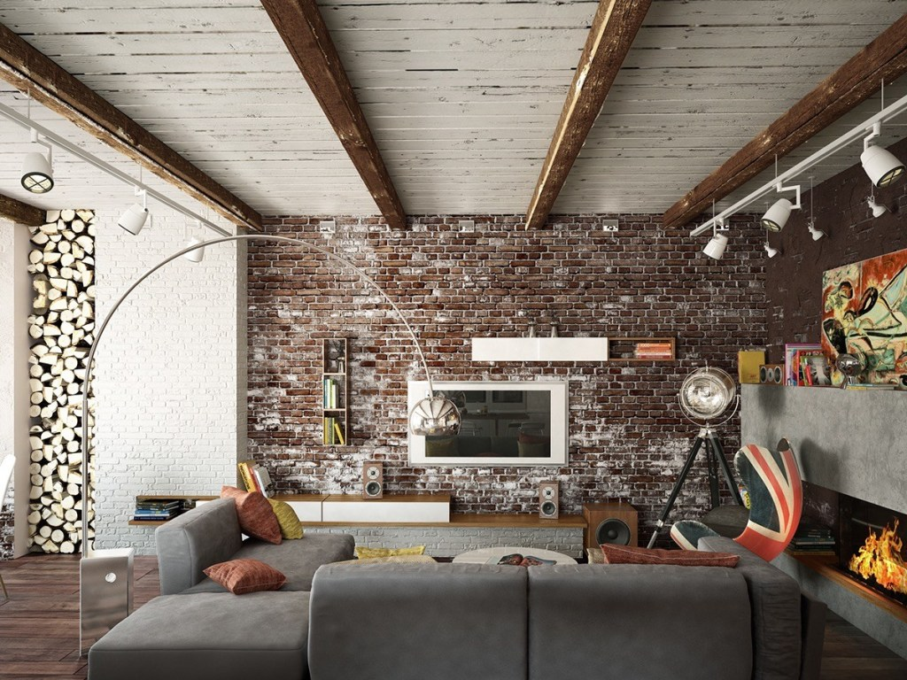 Brick Wall for a Rustic Interior Style