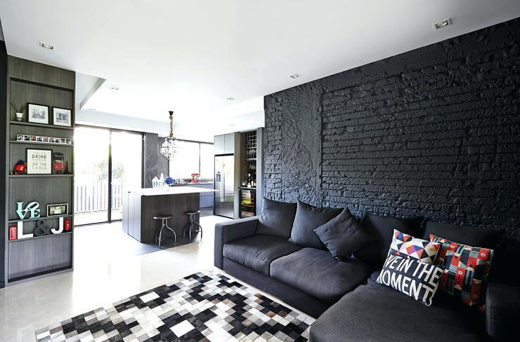 Luxurious with Black Brick Walls