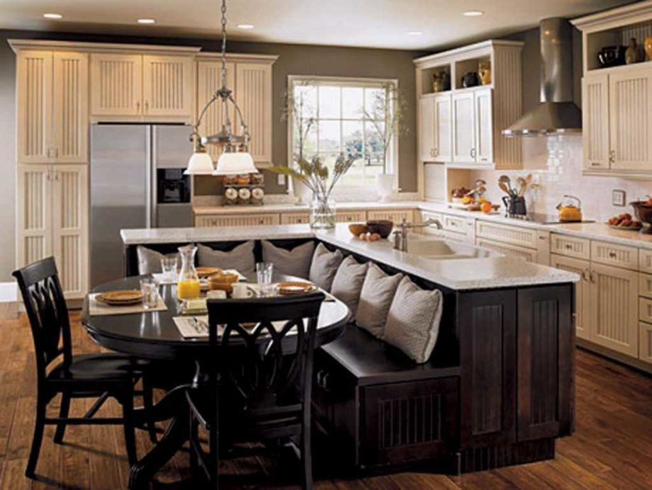 Dining Room Design that Blends with the Island Kitchen