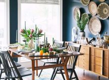 Modern Bohemian Apartment Design with Blue Domination