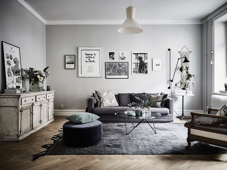Modern Bohemian Apartment Design with a Monochrome Touch