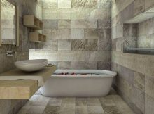 Bathroom Wall Ceramics from Natural Stone