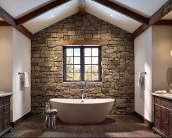 bathroom design with natural stone
