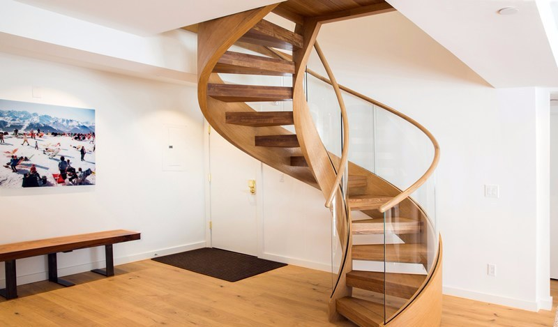 Curved Wooden Stairs