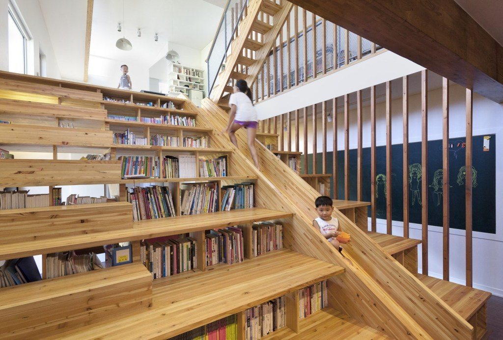 multifunctional wooden stairs