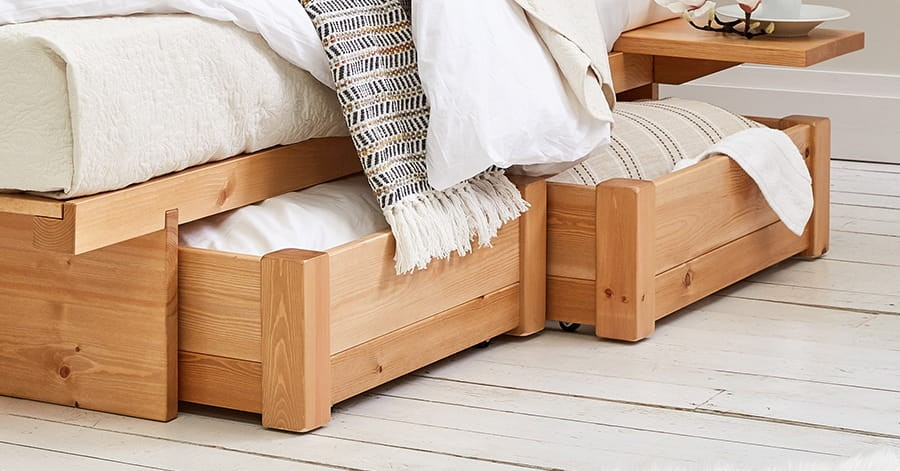area under the bed to store things